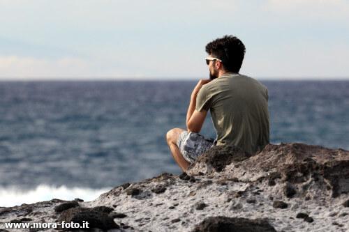 Giorgio observes the panorama