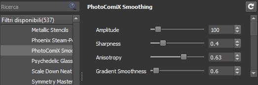 PhotoComiX Smoothing settings