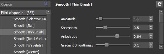 Smooth Thin brush settings